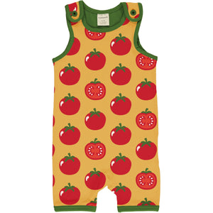 Romper (Playsuit Short) -Tomato Print