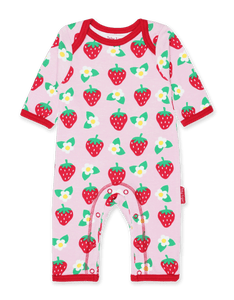 Strawberry Flower Sleepsuit & Bib
