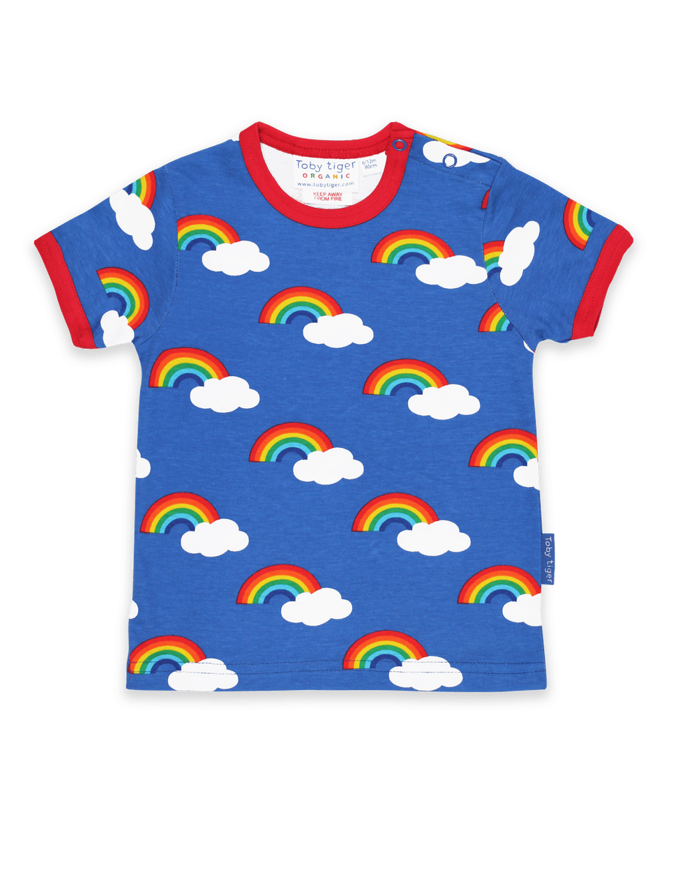 Rainbows & Clouds Blue Short Sleeve T-Shirt