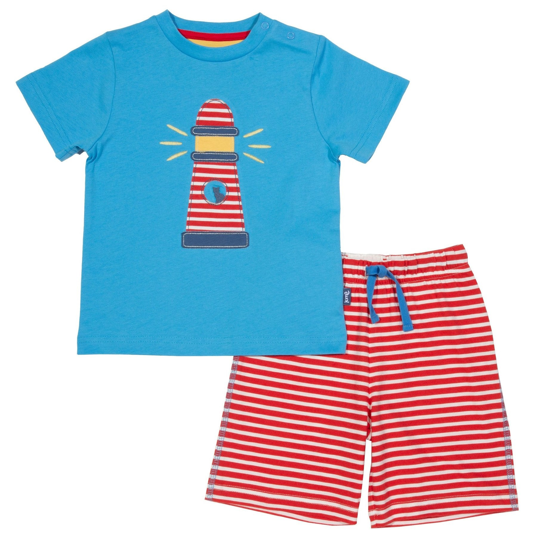 Lighthouse Baby Set Shorts and T-Shirt