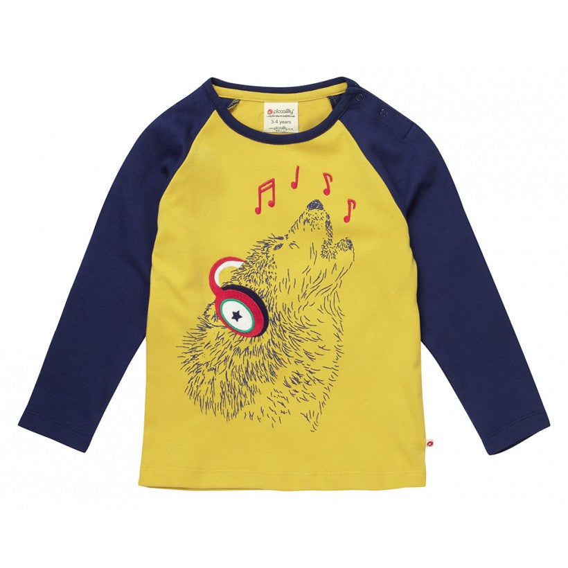 Singing Wolf Raglan Top