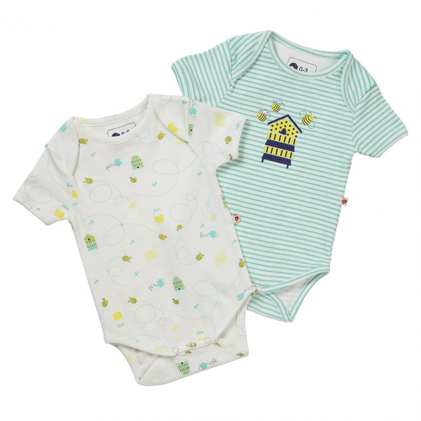 Honey Bee Baby Bodysuit 2-Pack