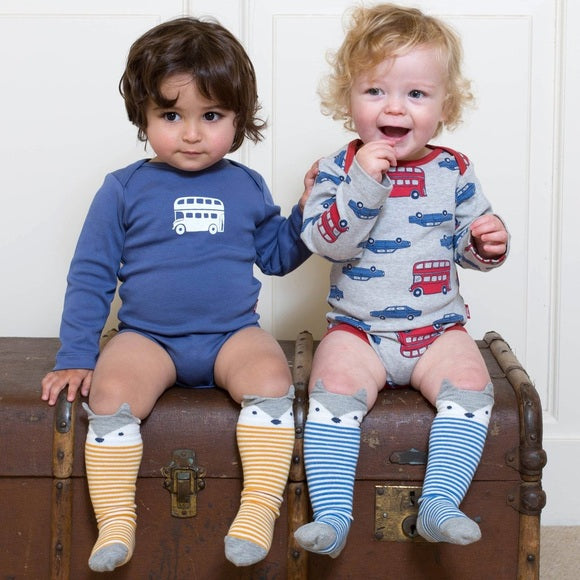London Transport 2-pack Long Sleeved Baby Bodysuits
