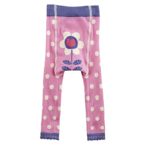 Footless Tights Pink Polka Dots