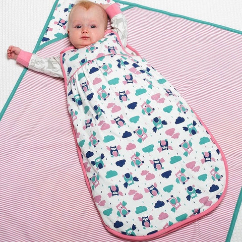 Organic Cotton Flying Owl Baby Sleeping Bag