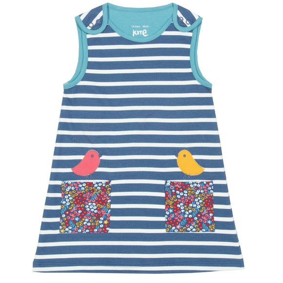 Birdy Stripes Pinafore Dress