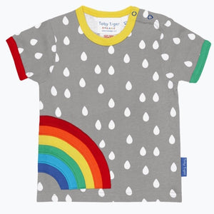 Raindrop with Rainbow Applique T-Shirt