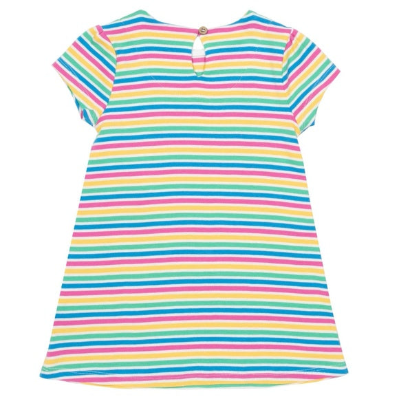 Multi-stripes Swan Dress