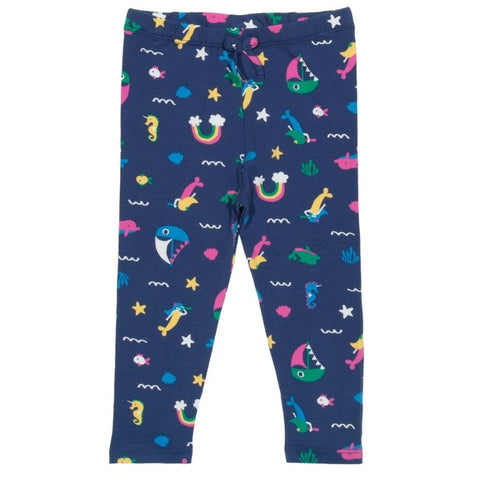 'Land ahoy' ocean themed leggings
