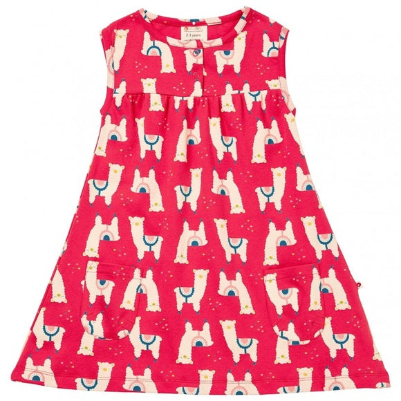 Alpaca Red Girl Dress