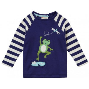 Raglan Boys Frog Blue Top