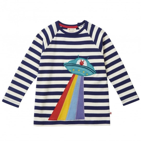 Stripe UFO themed Long Sleeve Top