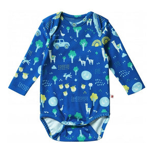 Organic Stackhouse Blue Baby Bodysuit