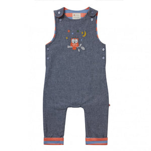 Night Owl Chambray Baby Jumper/Dungarees