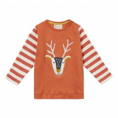 Reindeer Orange Top