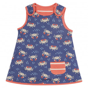 Ocean Crab Reversible Pocket Dress -Piccalilly