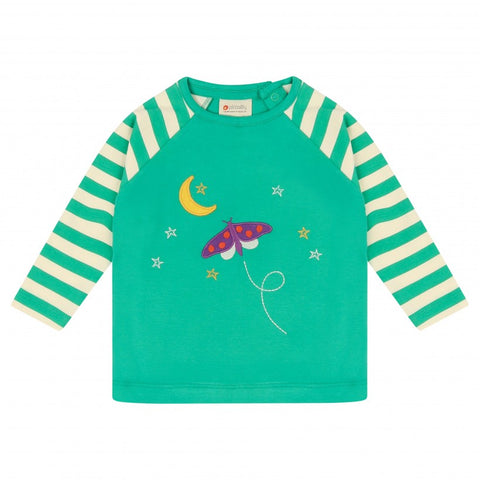 Raglan Green Top -Starry Night