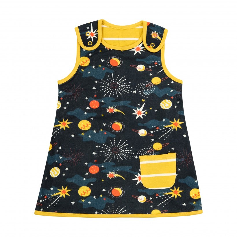 Reversible Charcoal/Yellow Dress -Solar Space