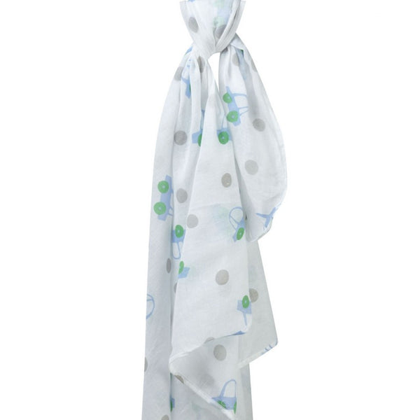 Muslin Swaddle Organic Blanket Car & Spots