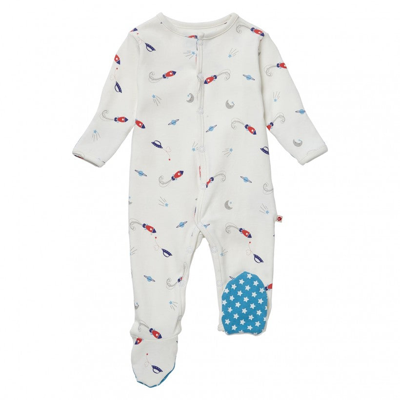 Classic Space Footed Sleepsuit