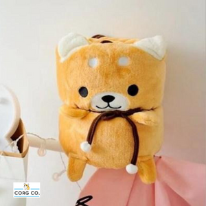 Shiba Inu Blanket Plush Two-In-One - Corg Co.