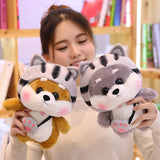 Shiba Inu corps doll plush toy children doll dressed Shiba Inu Role Playing Totoro Dinosaur Rabbit Pig Cat birthday gift girl