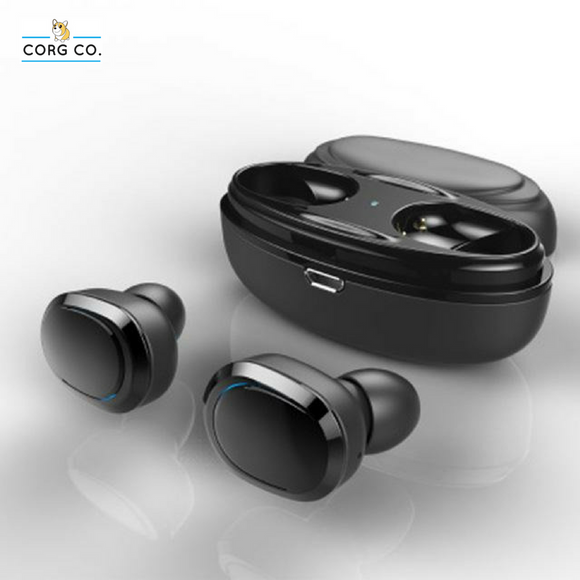 Wireless Bluetooth Earbuds/Earphones with Charging Box and Built-in Microphone - Corg Co.