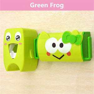 Cute Toothbrush Holder and Toothpaste Dispenser Set - Corg Co.