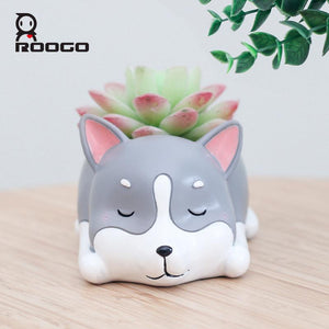 Husky Resin Flower Pot - Corg Co.