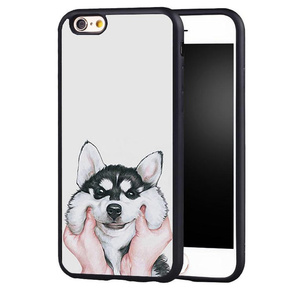 Husky iPhone Cases Squeezing Chubby Cheeks - Corg Co.