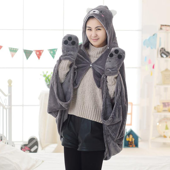 Super Soft Corgi Blanket Cape/Costume/Hoodie - Corg Co.
