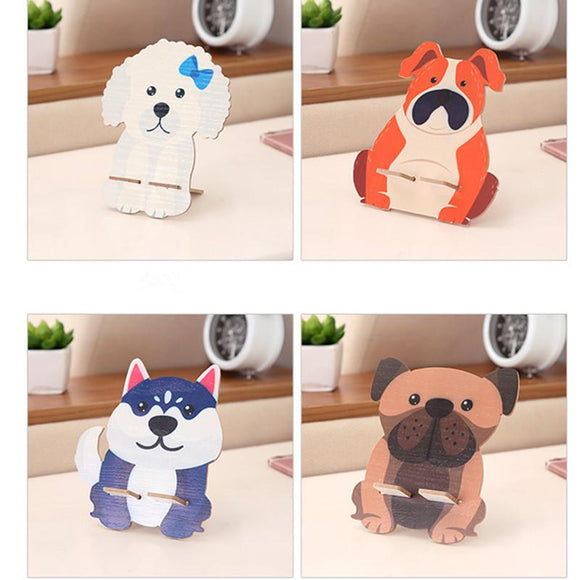 Cute Wooden Dog Phone Stand - Corg Co.