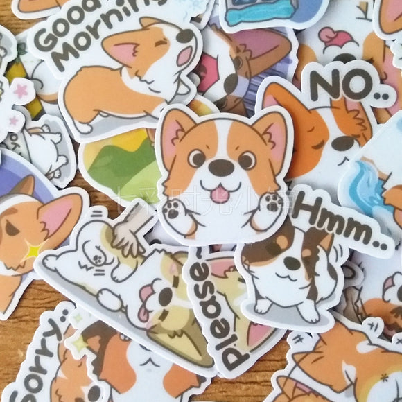 Cute Corgi Variety Stickers - Corg Co.