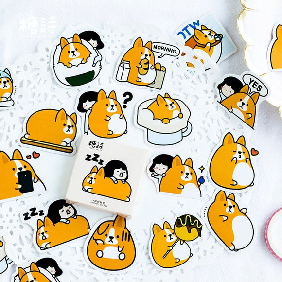 Adorable Fat Corgi Stickers - Corg Co.