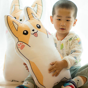 Cute Corgi Cartoon Pillow - Corg Co.