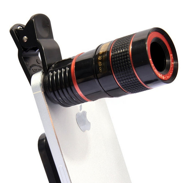 8X 12X Zoom Telescope Lens for iPhone for Sumsung Huawei Universal Clip Telephoto External Smartphone Camera Lens