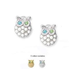 owl clip earring, invisible clip on earring, Non Pierced Earrings