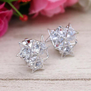 Star Clip Earring, customized non piercing earring, cubic zircon clip on earring