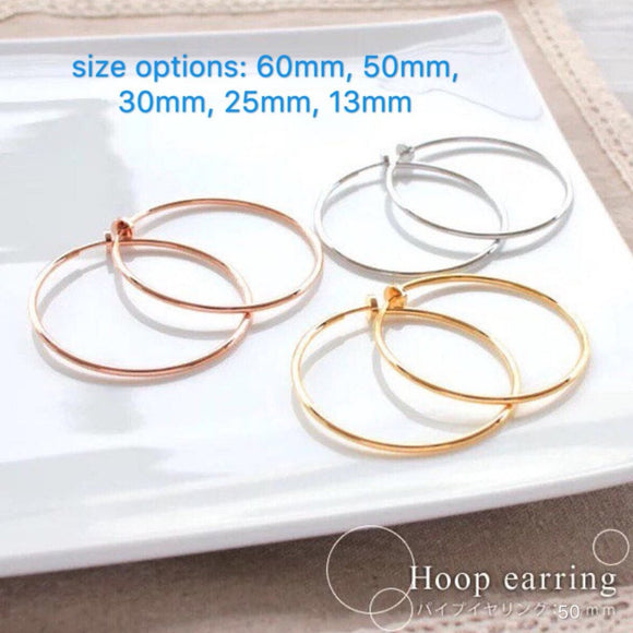 Clip on Hoop Earring, Non Pierced Earring,Clip on hoop