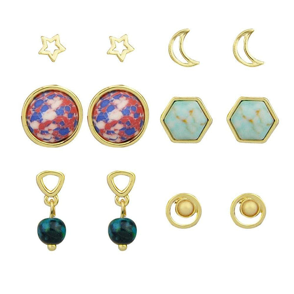 Square Round Shape Earrings