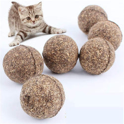 Pet Cat Natural Catnip Treat Ball Favor Home Chasing Toys Healthy Safe Edible Tr