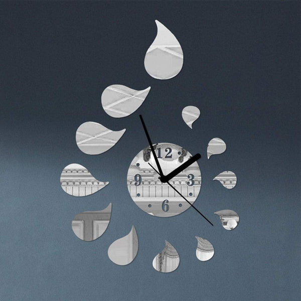 Silent Wall Clock DIY Personality Time Clocks Mirror Wall Stickers