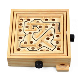 Parent-child Board Game Wooden Adult Good Intelligence Development Maze Toy Ball