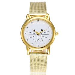 Women Adorable Cat Pattern Personalized Sweet Stylish Watch Accessory