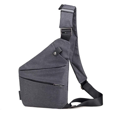 Men Canvas Bags Slanted With Sports Pockets
