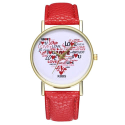 Zhou Lianfa New Fashion Trend Litchi Pattern IOVE Figure Watch