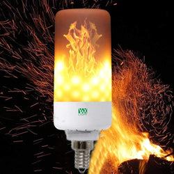 LED Flame Pattern Fire Light Bulbs Flickering Emulation Flame Lamp