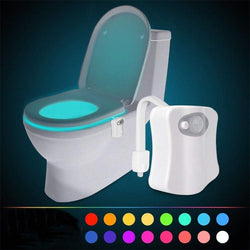 16 Color LED Motion Sensing Automatic Bathroom Toilet Night Motion Activated Lamp