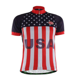 TVSSS Men Summer Short Sleeve USA Flag Clothes Bike Jersey Sportswear