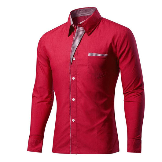 New Cotton Long Sleeve Pure Color Shirts